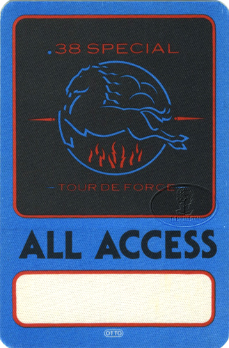 .38 SPECIAL 1984 ALL ACCESS Backstage Pass blue