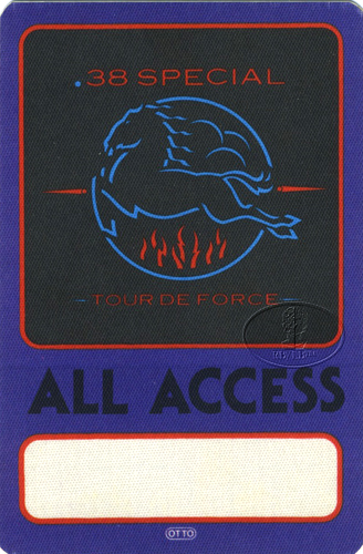 .38 SPECIAL 1984 ALL ACCESS Backstage Pass purple