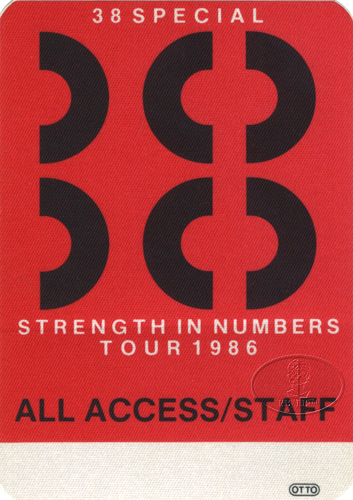 .38 SPECIAL 1986 STRENGTH IN NUMBERS Backstage Pass AAA