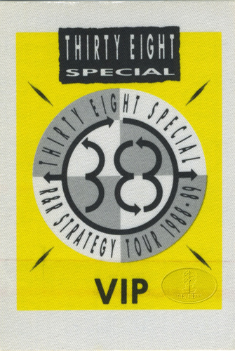 .38 SPECIAL 1988-89 R&R STRATEGY Backstage Pass VIP