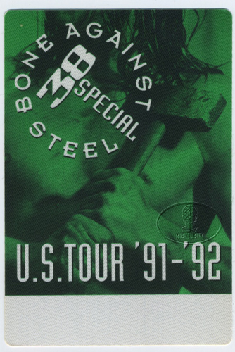 .38 SPECIAL 1991 BONE AGAINST STEEL Backstage Pass grn