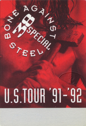 .38 SPECIAL 1991 BONE AGAINST STEEL Backstage Pass red