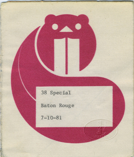 .38 SPECIAL 1981 TOUR Backstage Pass Baton Rouge