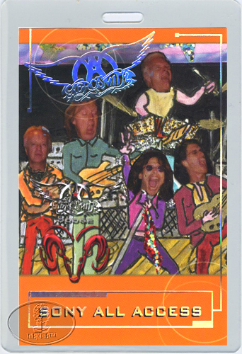 AEROSMITH & THE CULT 2001 TOUR LAMINATED BACKSTAGE PASS