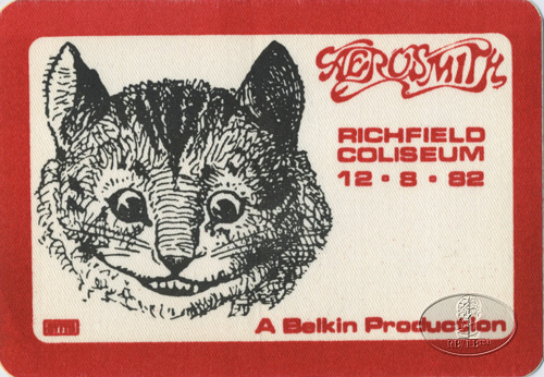AEROSMITH 1982 ROCK & HARD PLACE TOUR BACKSTAGE PASS