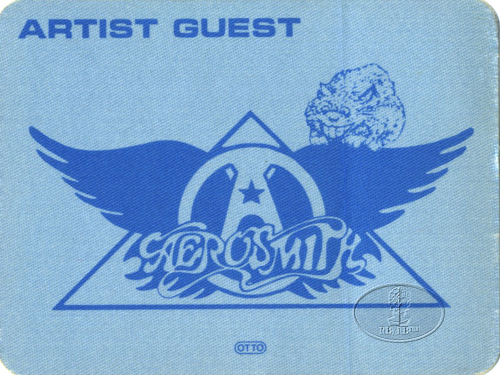 AEROSMITH 1983 BACKSTAGE PASS Guest blue