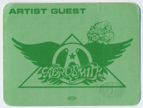 AEROSMITH 1983 BACKSTAGE PASS Guest green