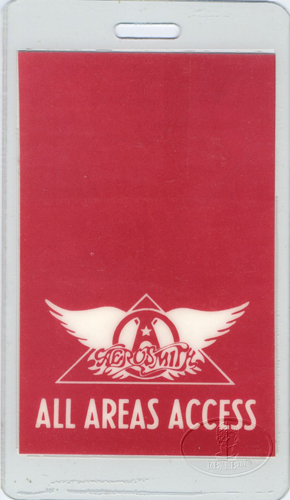 AEROSMITH 1983 ROCK HARD PLACE LAMINATED BACKSTAGE PASS