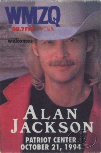 ALAN JACKSON 1994 Radio Promotional Backstage Pass WMZQ