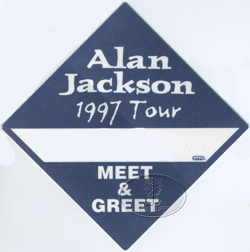 ALAN JACKSON 1997 TOUR BACKSTAGE PASS Meet n' Greet