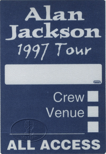 ALAN JACKSON 1997 Backstage Pass ALL ACCESS