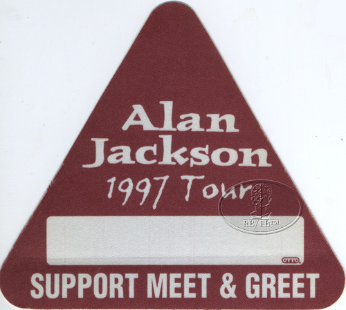 ALAN JACKSON 1997 Backstage Pass Meet & Greet