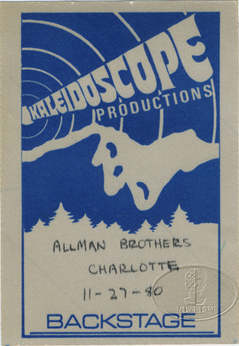 ALLMAN BROTHERS BAND 1980 TOUR Backstage Pass CHARLOTTE