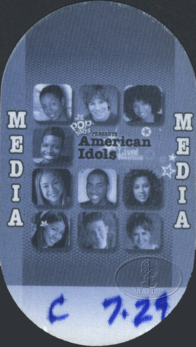 AMERICAN IDOLS 2004 TOUR Backstage Pass CARRIE UNDERWOOD