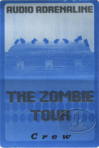 AUDIO ADRENALINE 1997 ZOMBIE TOUR Backstage Pass Crew