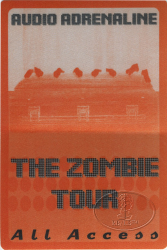 AUDIO ADRENALINE 1997 ZOMBIE TOUR Backstage Pass AAA