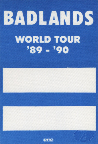 BADLANDS 1989 Backstage Pass BLACK SABBATH
