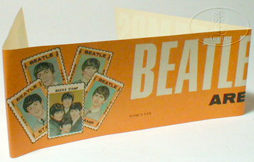 BEATLES Hallmark Stamps ADVERTISING BANNER--RARE! 1964