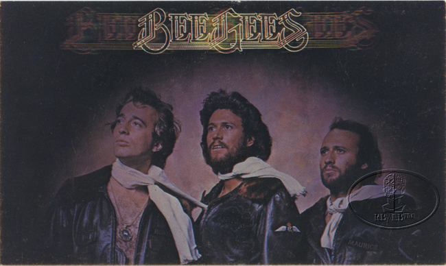 Bee Gees 1977 Promotional Postcard Barry Robin Maurice Gibb