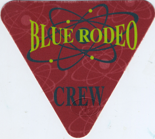 BLUE RODEO 1994 TOUR Backstage Pass CREW
