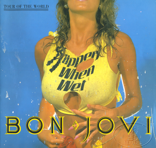 BON JOVI 1986 SLIPPERY WHEN WET Tour Concert Program Programme Book
