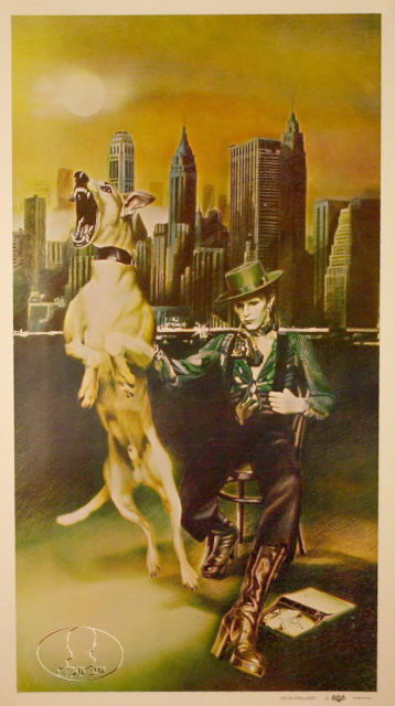DAVID BOWIE 1974 DIAMOND DOGS RCA RARE PROMO POSTER