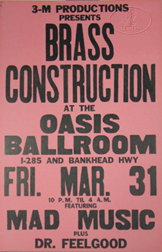 BRASS CONSTRUCTION 1989 BOXING POSTER DR. FEELGOOD
