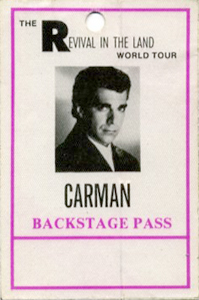 CARMAN 1993 Backstage Pass CHRISTIAN MUSIC
