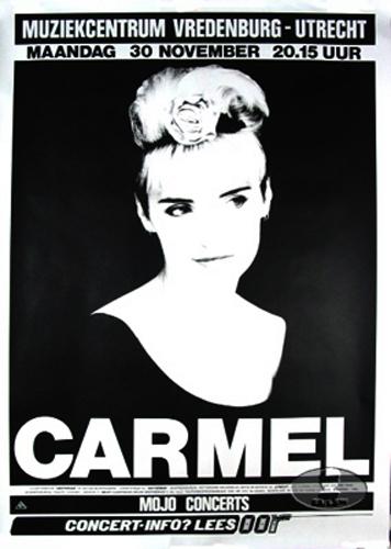 Carmel 1987 Europe Tour Concert Poster