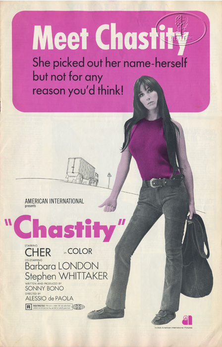 cher 1969 chastity movie program advertising publicity