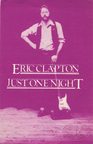 ERIC CLAPTON 1980 JUST ONE NIGHT PROMOTIONAL STICKER