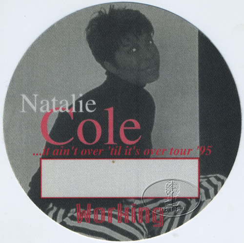 NATALIE COLE 1995 TOUR Backstage Pass