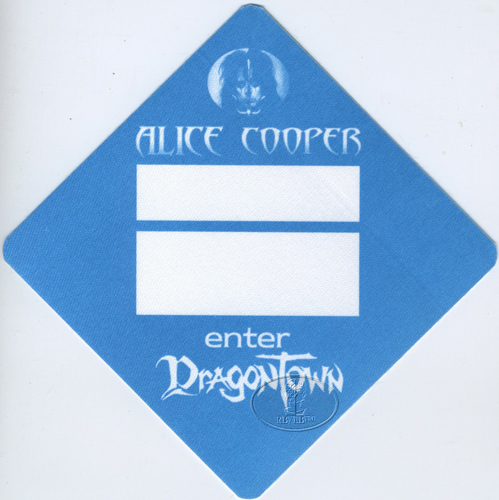 ALICE COOPER 2001 ENTER DRAGONTOWN BACKSTAGE PASS