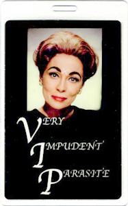 VIP JOAN CRAWFORD LAMINATED BACKSTAGE PASS