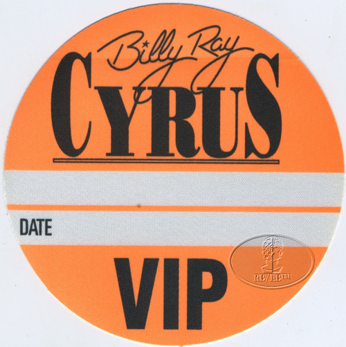 BILLY RAY CYRUS 1993 VIP Backstage Pass HANNAH MONTANA