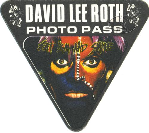 David Lee Roth 1986 Backstage Pass Photo Blk Van Halen