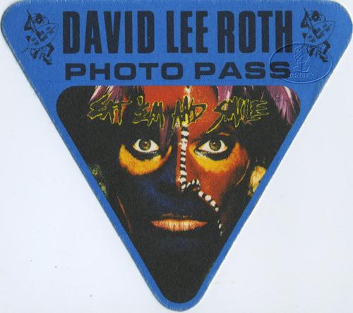 David Lee Roth 1986 Backstage Pass Photo Van Halen