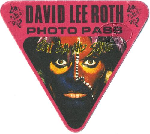 David Lee Roth 1986 Backstage Pass Photo Red Van Halen