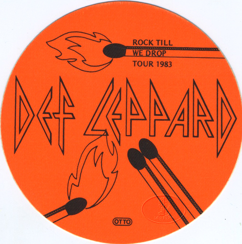 DEF LEPPARD 1983 ROCK TILL WE DROP TOUR BACKSTAGE PASS
