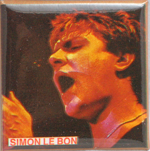 DURAN DURAN 1980s PIN BUTTON PINBACK Simon LeBon