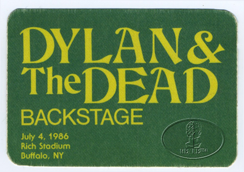 GRATEFUL DEAD & BOB DYLAN 7/4/86 BACKSTAGE PASS Rich Stadium