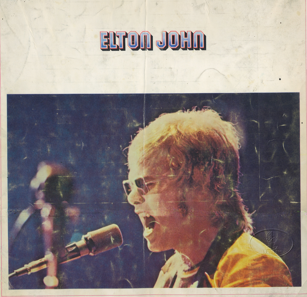 ELTON JOHN 1971 MADMAN ACROSS THE WATER Tour Concert Program Programme Book