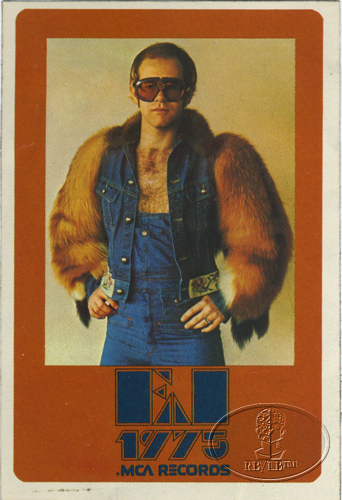 ELTON JOHN 1975 MCA Promotional Sticker