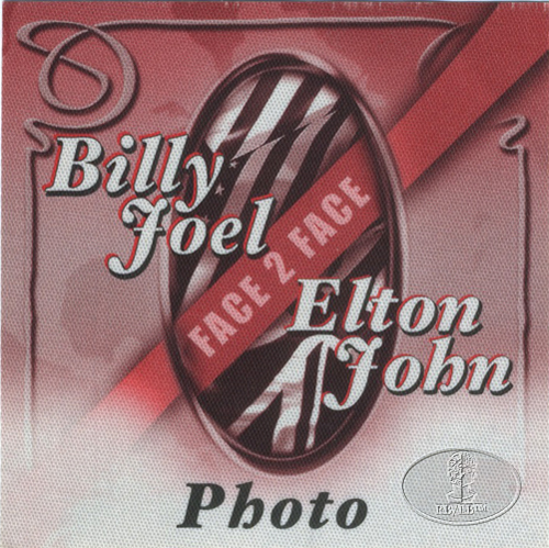 ELTON JOHN & BILLY JOEL 2002 TOUR BACKSTAGE PASS