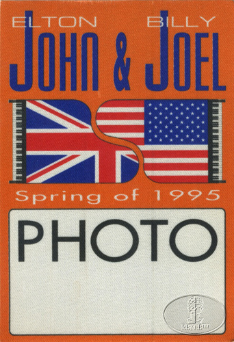 ELTON JOHN & BILLY JOEL 1995 TOUR BACKSTAGE PASS