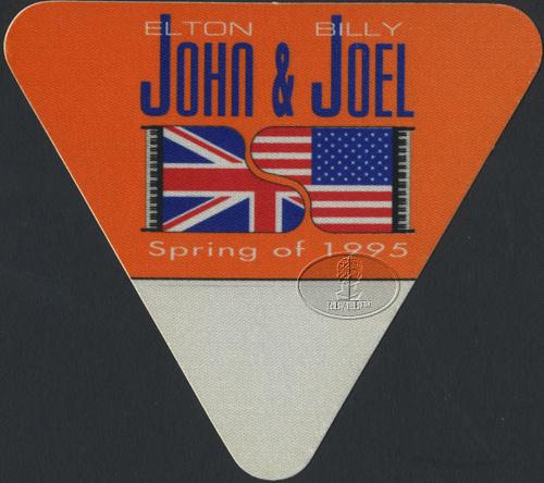 ELTON JOHN & BILLY JOEL 1995 TOUR BACKSTAGE PASS