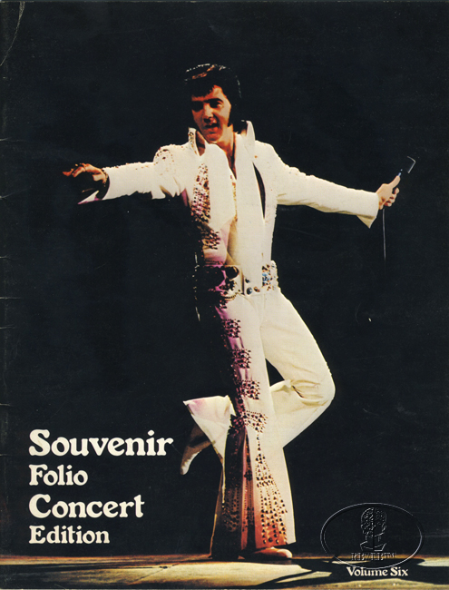 ELVIS PRESLEY 1976 TOUR CONCERT PROGRAM Programme Book