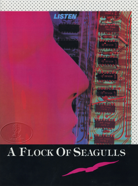 A FLOCK OF SEAGULLS 1983 LISTEN Tour Program tourbook Programme