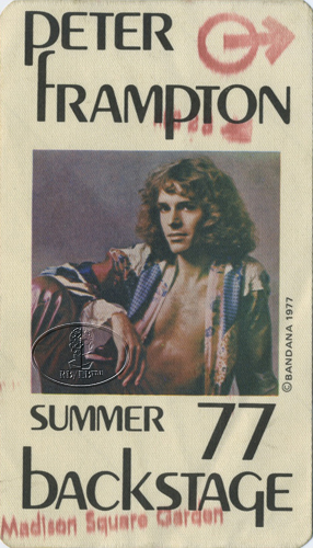 peter frampton 1977 tour backstage pass madison square garden ebay. Black Bedroom Furniture Sets. Home Design Ideas