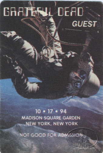 GRATEFUL DEAD 10/17/94 BACKSTAGE PASS Madison Square Garden